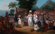 A Linen Market with Enslaved Africans. West Indies, circa 1780 by Agostino Brunias (1728 - 1796) – Artist (Italian, active in Britain (1758-1770; 1777-1780s)