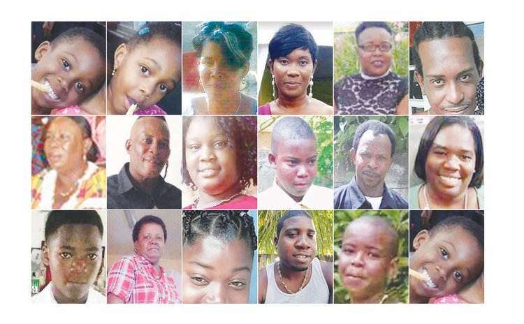 Some of the victims of Hurricane Maria (See story for complete caption)
