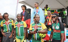 National Pride at an OECS Cycling Competition: Some Members of the Dominica Team