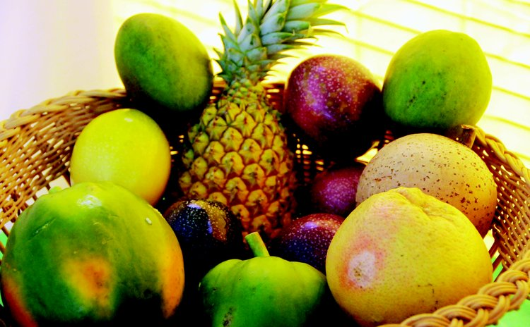 A basket of Dominican fruits