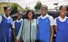 Grade Six top students of the St Martin's school and their teacher