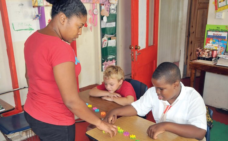 Students and teachers at the Achievement Learning Centre
