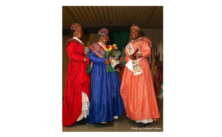 Three winners of the Madam Wob Creole competition