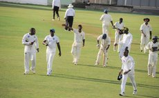 Tremors celebrate at the end of the first innings