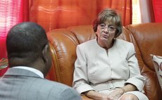 US Ambassador Linda Taglialatela meets Prime Minister Roosevelt Skerrit