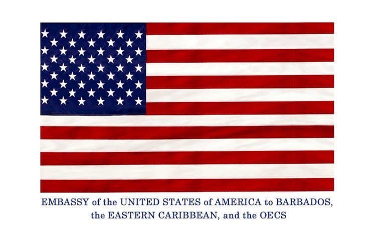 US Embassy OECS and Barbados logo