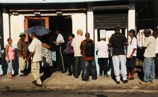Dominicans vote in Roseau during the 2014 general election
