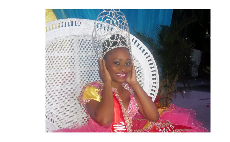 Miss Dominica Lecresha Wallace after the crowning
