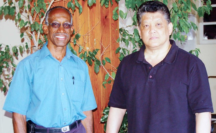 Winston Magloire, left, and Frank Woon-A-Tai,  karate experts
