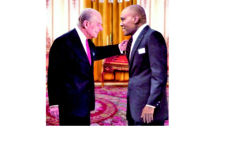 Reggie Winston meets Prince Phillip