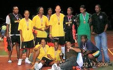 Dominica's Women's Basketball Team, 3rd Place in Gillian Brazer Tourney, Antigua, 2006