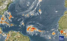 Weather Channel satellite photo of tropical disturbance