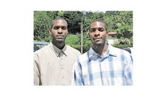 Twin basketballers, Shaun (L) & Shane Reid, 2009.  Only Shaun is still an active player. Photo Courtesy: Shaun Reid Facebook Page