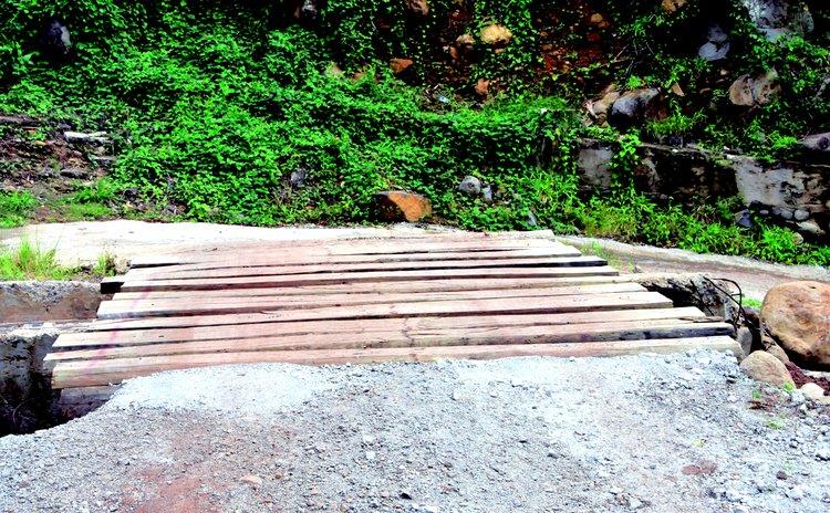 Bridge built by the few remaining people of Petite Savanne