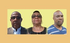 L-R: Egbert Charles/Saints, Alice Jno. Jules/Saints, Ronnie Gustave/Zebians