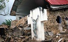 Earthquake damage at the Portsmouth Catholic Church