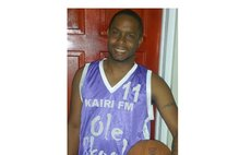 Garvin Richards of DBS Radio plays basketball with Ole Skool