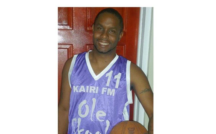 Garvin Richards of DBS Radio plays basketball with Ole Skool