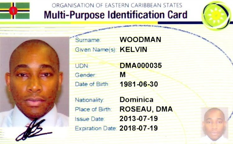 Sample of National ID card