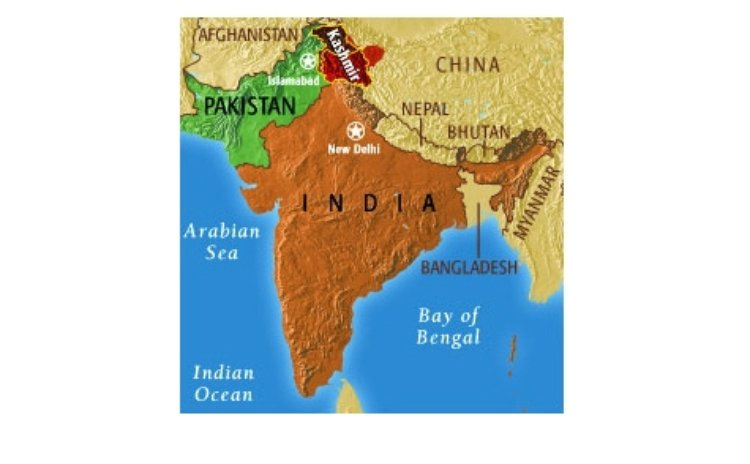 Map of India and Pakistan
