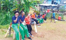 Women cricketers at the Kalinago Territory
