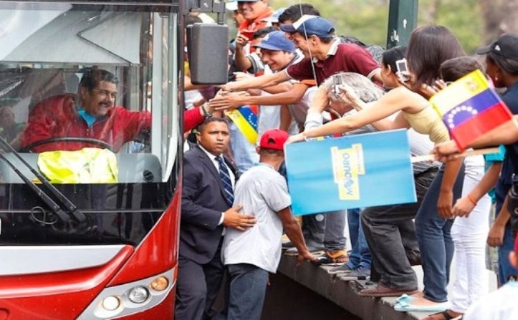 President Maduro arrives in Venezeula after international tour