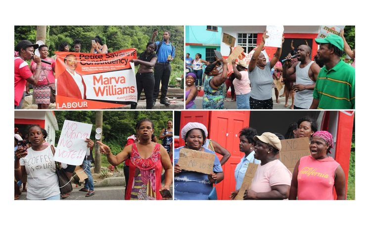 Supporters protest removal of Marva Williams