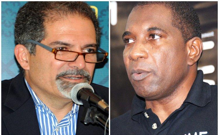 DHTA's president Gregor Nassief,left, and DAIC's president Baptiste