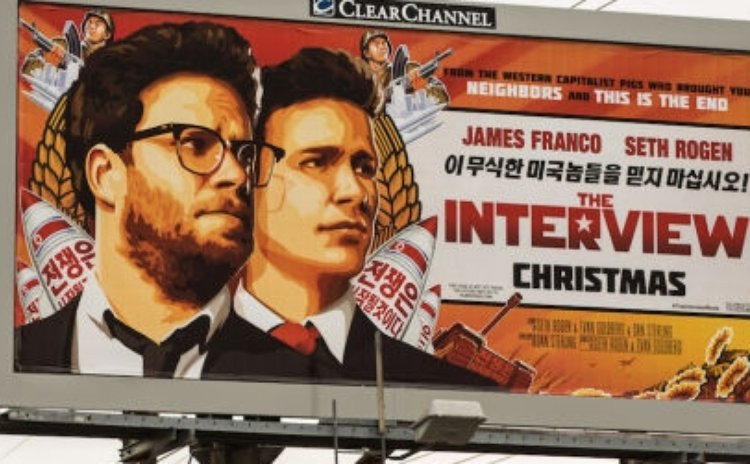 "Billboard promoting ""The Interview"""