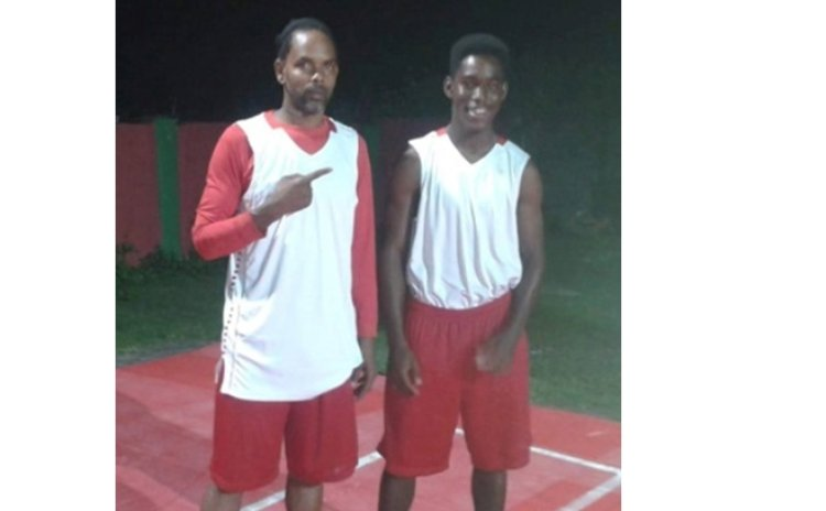 Dunstan Peters and son Danté, on 7Six7 Sports Club Young Ballerz