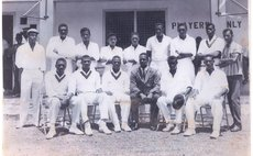 Dominica Senior cricket team: Jno Baptiste, back row, 4th from right