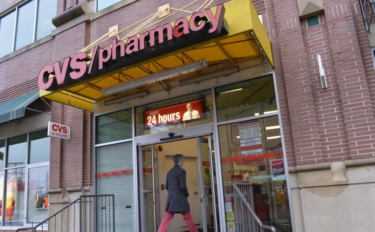 WASHINGTON D.C., Feb. 5, 2014 (Xinhua/ Sun) -- Photo taken on Feb. 5, 2014 shows a view of the entrance of a CVS store in Arlington, Virginia. CVS Caremark (Xinhua/Zhang Jun)