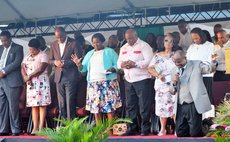 Scene at the Praise and Worship event