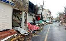 Hurricane Irma damage in St Martin
